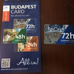 乗り物乗り放題 ブダペストカード