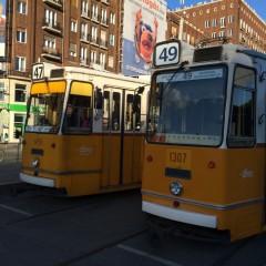 ブダペストの地下鉄とトラムとバス