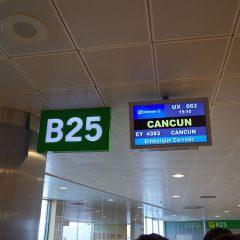 リスボンからメキシコ・カンクンへ