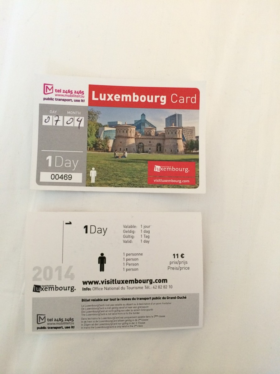 国内列車、バス乗り放題、観光スポットの入場料が無料になる便利なルクセンブルクカード