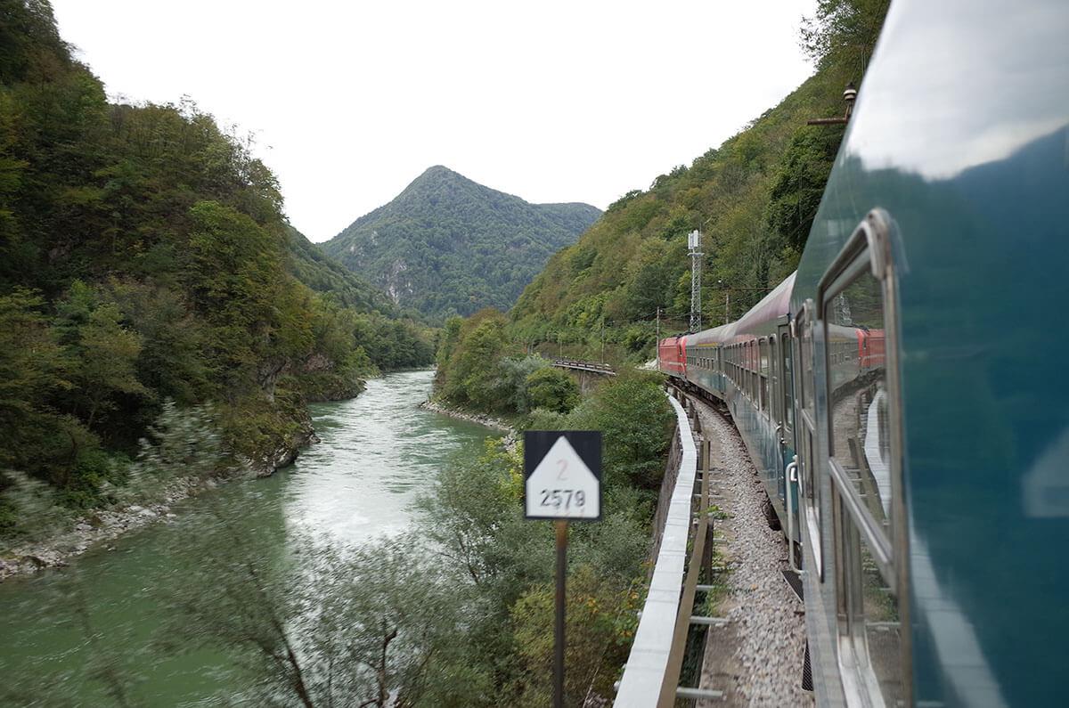 ザグレブ〜リュブリャナ間の鉄道から見える景観がすばらしかった