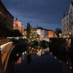 リュブリャナ観光と夜の旧市街