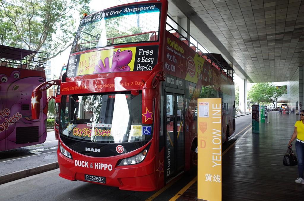 シンガポールのHop on Hop off バスは便利
