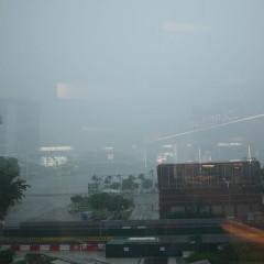 シンガポールは雨季