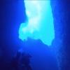 グアム ブルーホールを下からくぐる ウミガメやオキゴンドウも
